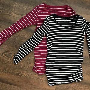Maternity long sleeve tops (set of 2)